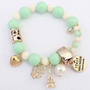 NEW Light green handmade charm bracelet